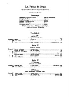 Les Troyens (The Trojans), H.133 Op.29: Full score by Hector Berlioz