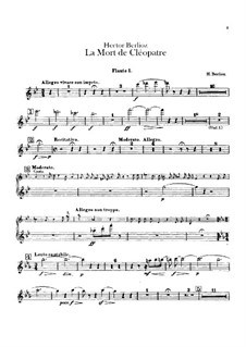La mort de Cléopâtre (Death of Cleopatra), H.36: Flutes parts by Hector Berlioz
