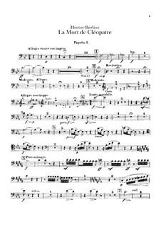 La mort de Cléopâtre (Death of Cleopatra), H.36: Bassoons parts by Hector Berlioz