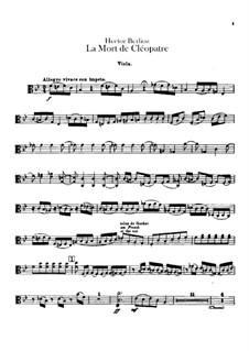 La mort de Cléopâtre (Death of Cleopatra), H.36: Viola part by Hector Berlioz