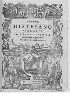 Madrigals for Five Voices: Book I – tenor part by Steffano Bernardi