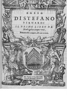 Madrigals for Five Voices: Book I – bass part by Steffano Bernardi