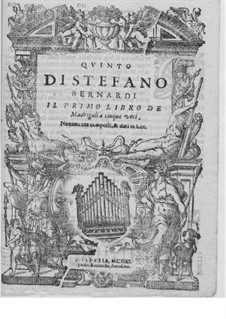 Madrigals for Five Voices: Book I – high voice part by Steffano Bernardi