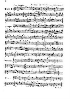 Six Progressive Trios for Two Violins and Cello, Op.28: No.1-3 by Franz Anton Hoffmeister