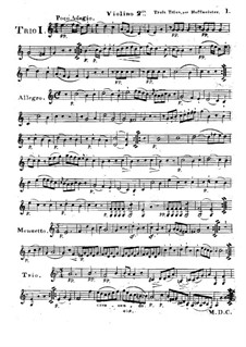 Six Progressive Trios for Two Violins and Cello, Op.28: Violin II part by Franz Anton Hoffmeister