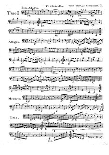 Six Progressive Trios for Two Violins and Cello, Op.28: Cello part by Franz Anton Hoffmeister