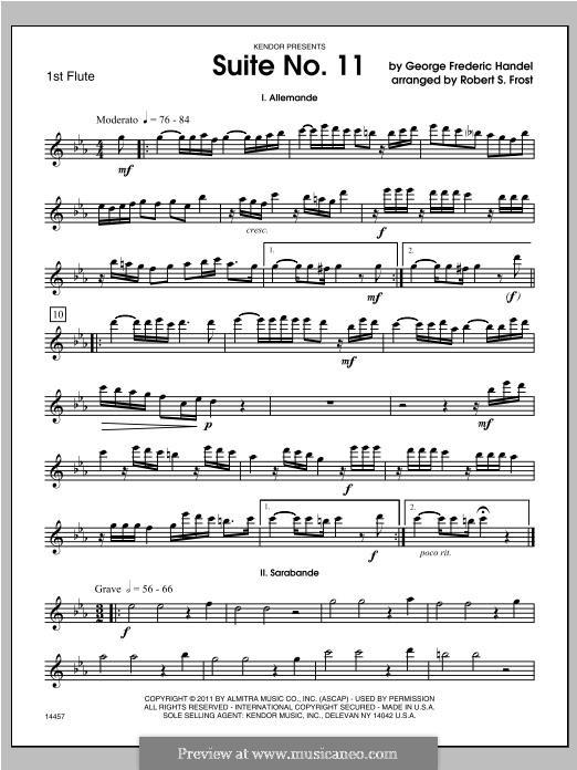 Suite No.4 in D Minor, HWV 437: For trio flutes – Flute 1 part by Georg Friedrich Händel