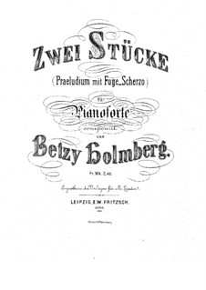 Two Pieces for Piano: Two Pieces for Piano by Betsy Holmberg