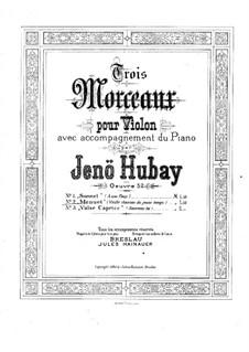 Vielle chanson de jeune temps for Violin and Piano, Op.52: No.2 Minuet – solo part by Jenö Hubay