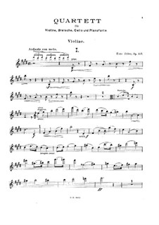 Piano Quartet No.2 in E Major, Op.117: Piano Quartet No.2 in E Major by Hans Huber