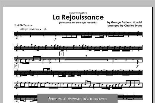 La Rejouissance: For brass band – Trumpet 2 part by Georg Friedrich Händel