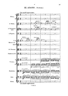 Summer Nights. Serenade for Orchestra, Op.86 No.1: Movements III-IV by Hans Huber