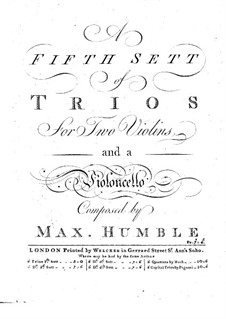 Six Trio Sonatas for Strings: Violin II part by Maximilian Humble