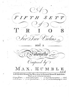 Six Trio Sonatas for Strings: Cello part by Maximilian Humble