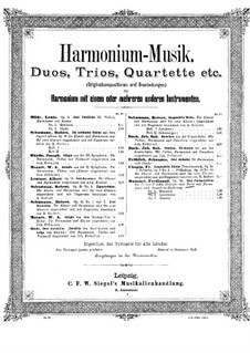 Romance for Cello (or Viola, or French Horn) and Harmonium (or Piano), Op.56 No.1: Full score by Ferdinand Hummel