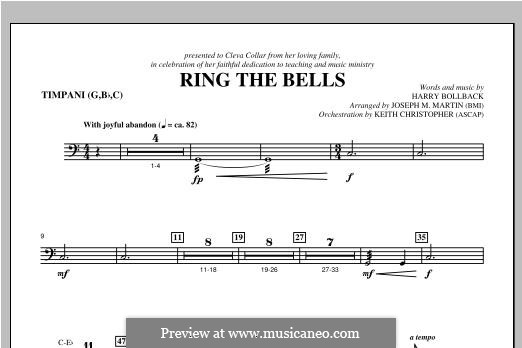 Ring the Bells: Timpani part by Harry Bollback