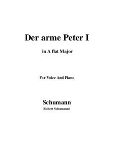 Romances and Ballades, Op.53: No.3 Der arme Peter (Poor Peter), Movement I (A flat Major) by Robert Schumann