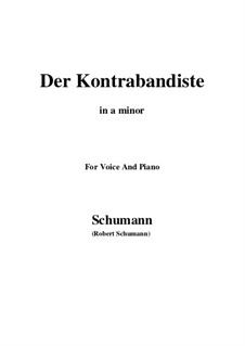 Spanish Folk Songs, Op.74: No.10 El Contrbandista (The Smuggler) a minor by Robert Schumann