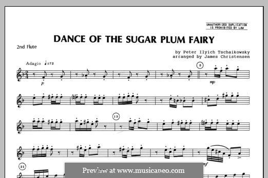 No.3 Dance of the Sugar-Plum Fairy: For trio flutes – Flute 2 part by Pyotr Tchaikovsky