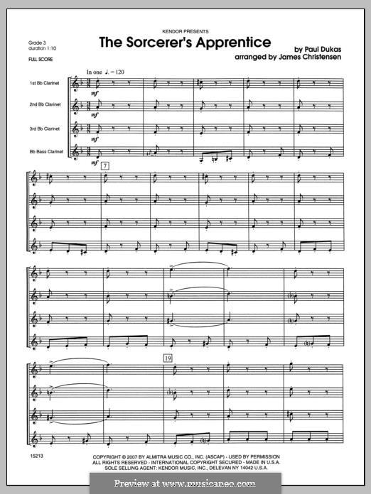 L'apprenti sorcier (The Sorcerer's Apprentice): Full Score by Paul Dukas