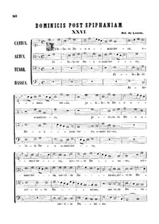 Jubilate Deo omnis terra: Vocal score by Orlande de Lassus