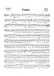 Mass 'Octavi Toni': Soprano part by Orlande de Lassus