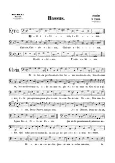 Mass 'Octavi Toni': Bass part by Orlande de Lassus