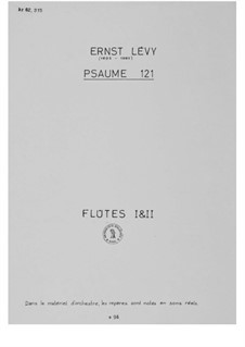 Psalm 121 (Choral Score): Orchestral Parts by Ernst Levy