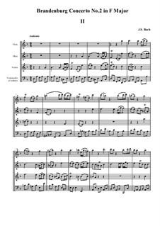 Brandenburg Concerto No.2 in F Major, BWV 1047: Movement II by Johann Sebastian Bach