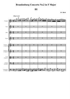 Brandenburg Concerto No.2 in F Major, BWV 1047: Movement III by Johann Sebastian Bach