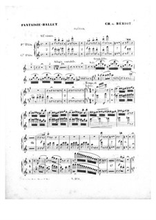Scène de ballet, Op.100: Flutes parts by Charles Auguste de Beriot