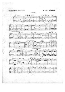 Scène de ballet, Op.100: Bassoons parts by Charles Auguste de Beriot