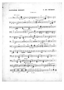 Scène de ballet, Op.100: Timpani part by Charles Auguste de Beriot