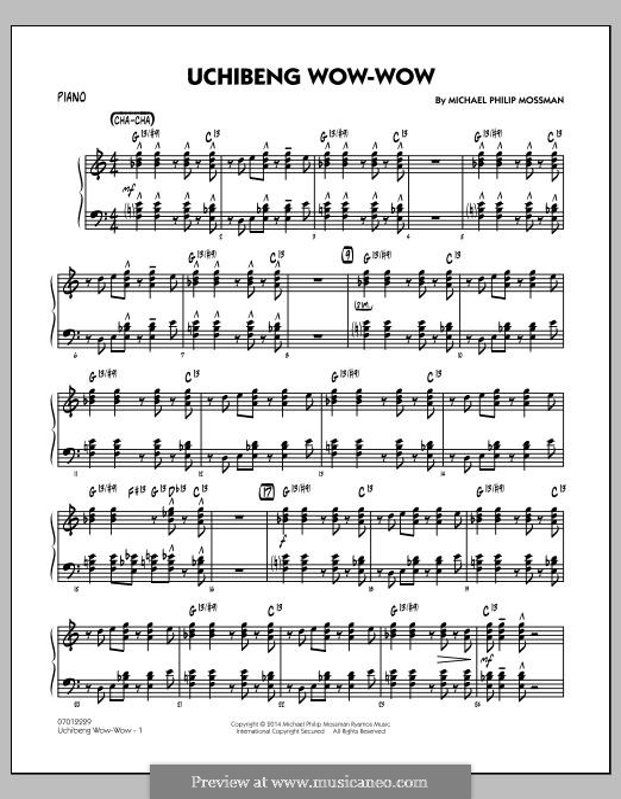 Uchibeng Wow-wow: Piano part by Michael Philip Mossman