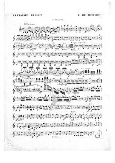 Scène de ballet, Op.100: Violin I part by Charles Auguste de Beriot