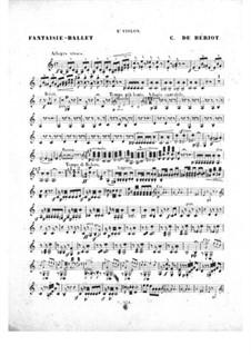 Scène de ballet, Op.100: Violin II part by Charles Auguste de Beriot