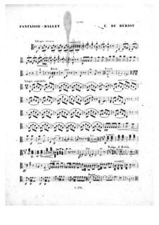 Scène de ballet, Op.100: Viola part by Charles Auguste de Beriot