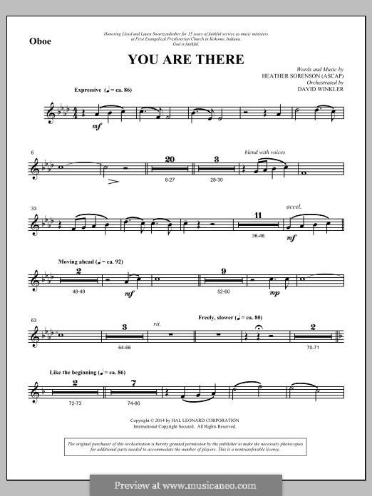 You Are There: Oboe part by Heather Sorenson