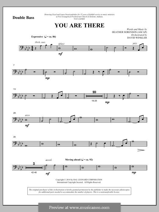 You Are There: Double Bass part by Heather Sorenson