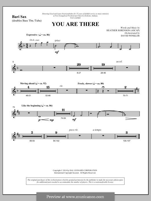 You Are There: Bari Sax part by Heather Sorenson
