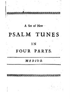 A Set of New Psalm Tunes: Contralto part by John Bishop