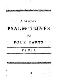 A Set of New Psalm Tunes: Tenor part by John Bishop