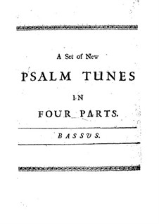 A Set of New Psalm Tunes: Bass part by John Bishop
