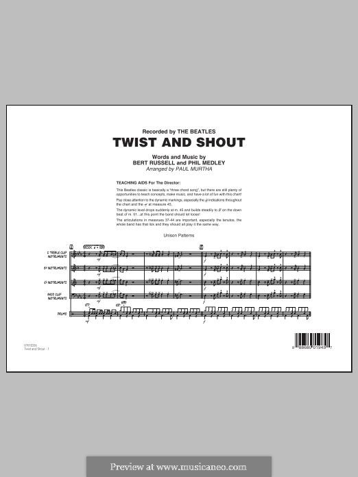 Twist and Shout (The Beatles), for Orchestra (arr. Paul Murtha): Full score by Bert Russell, Phil Medley