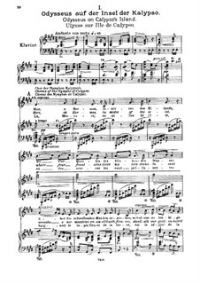 Odysseus, Op.41: Piano-vocal score by Max Bruch