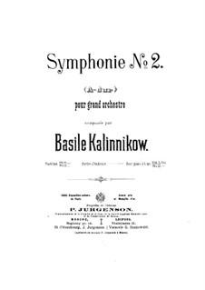Symphony No.2 in A Major: Symphony No.2 in A Major by Vasily Kalinnikov