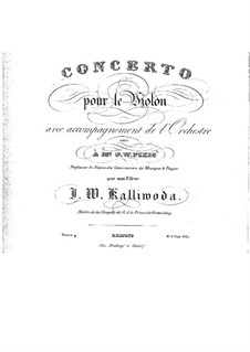 Concerto for Violin and Orchestra No.1 , Op.9: Solo part by Jan Kalliwoda