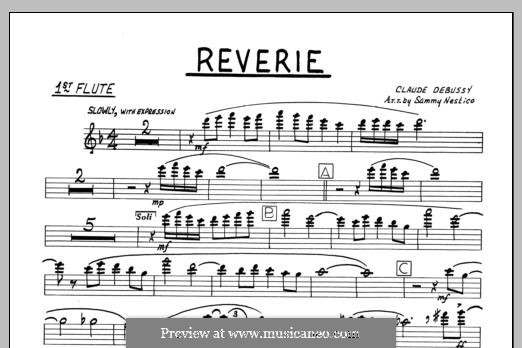 Reverie, for Orchestra, L.68: 1st Flute part by Claude Debussy