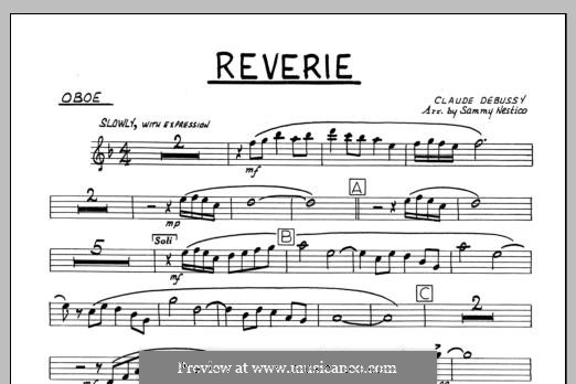 Reverie, for Orchestra, L.68: Oboe part by Claude Debussy