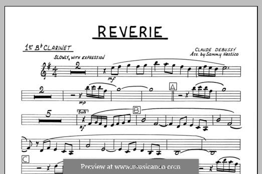 Reverie, for Orchestra, L.68: 1st Bb Clarinet part by Claude Debussy